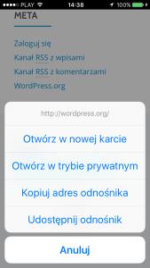 Bug w iOS 9 nie działa otwieranie linków